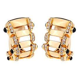Patek Philippe Diamond Sapphire 18k Rose Gold Earrings