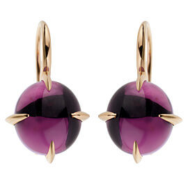 Pomellato Rose Gold 16.60ct Amethyst Drop Earrings