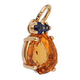 Pomellato Citrine Sapphire Yellow Gold Pendant Necklace