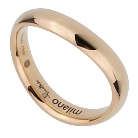 Pomellato Rose Gold Wave Band Ring Sz 5