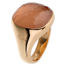 Pomellato Rose Gold Pink Quartz Cocktail Ring
