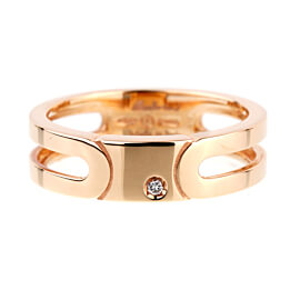 Salvini Rose Gold Diamond Band Ring