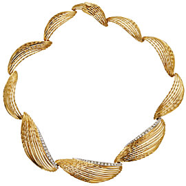 Sterlé Paris Vintage Yellow Gold Diamond Necklace