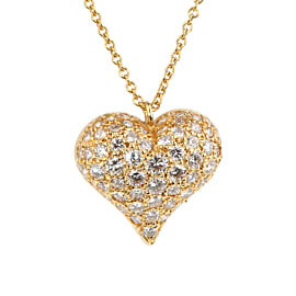 Tiffany Co Diamond Heart Gold Necklace