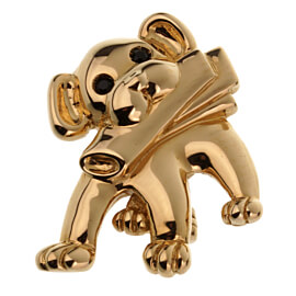 Van Cleef & Arpels Vintage Dog Yellow Gold Brooch