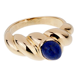 Van Cleef & Arpels Vintage Lapis Yellow Gold Ring