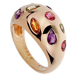 Van Cleef & Arpels Vintage Bombe Gemstone Gold Ring