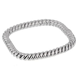 Van Cleef Arpels Braided White Gold Bangle Bracelet