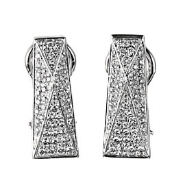 Versace Pave Diamond White Gold Earrings