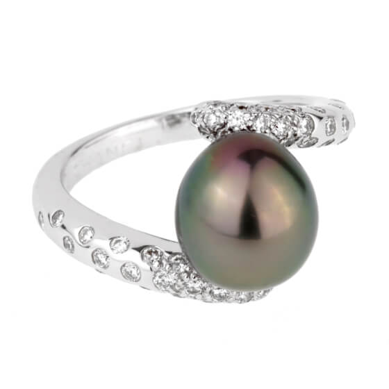 Chanel Concept Pearl Diamond White Gold Ring