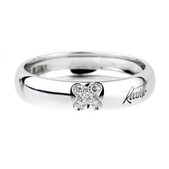Recarlo Clover Diamond White Gold Ring