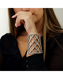 Boucheron Weave Diamond White Gold Cuff