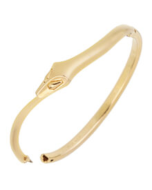 Boucheron Snake Vintage Yellow Gold Bangle Bracelet