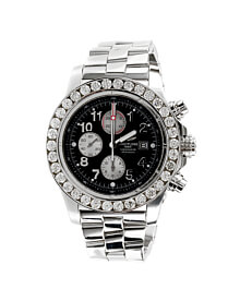 Mens Breitling Super Avenger Stainless Steel Diamond Watch A13370