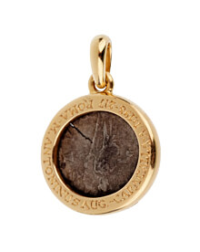Bulgari Ancient Coin Gold Pendant Necklace
