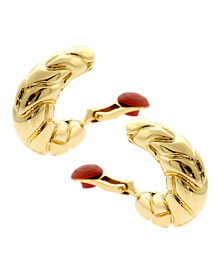 Bulgari Gold Hoop Earrings