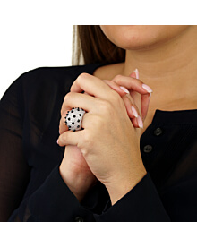Cartier Panthere Spike Diamond Onyx Ring