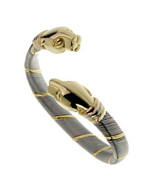 Cartier Panthere Stainless Steel Gold Bangle Bracelet