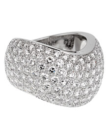 Cartier Pave Diamond Cocktail Ring