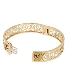 Chanel Camellia Yellow Gold Ajoure Bracelet