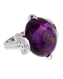Christian Dior Amethyst Diamond Platinum Cocktail Ring