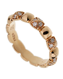 Fred of Paris Rose Gold Diamond Pyramid Ring
