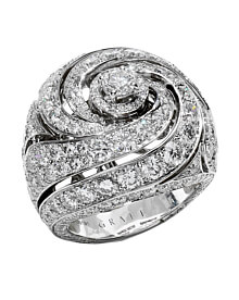 Graff Bombe White Gold Diamond Cocktail Ring