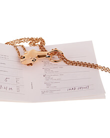 Hermes Galop Rose Gold Diamond Necklace