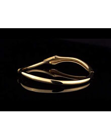Boucheron Snake Vintage Yellow Gold Bangle Bracelet For Sale Opulent Jewelers