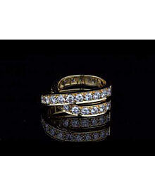 Cartier Nouvelle Vague Diamond Bypass Gold Ring For Sale Opulent Jewelers