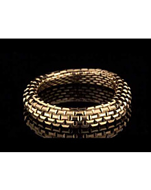 Boucheron French Brick Yellow Gold Chain Bracelet For Sale Opulent Jewelers