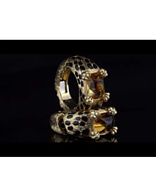 Dior Leopard Citrine Gold Hoop Earrings For Sale Opulent Jewelers