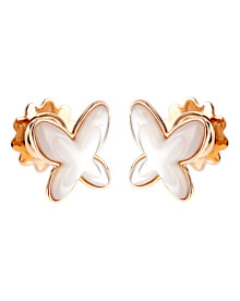 Mimi Milano Butterfly Mother of Pearl Gold Earrings