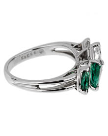Oscar Heyman Vintage Emerald Diamond Cocktail Ring