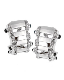 Patek Philippe Diamond Sapphire White Gold Earrings