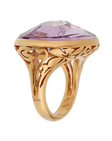 Pomellato 10ct Amethyst Cocktail Rose Gold Ring Sz 6
