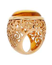 Pomellato 19.94 Carat Amber Rose Gold Cocktail Ring Sz 5 1/4