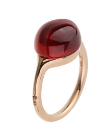 Pomellato Cabochon Carnelian Rose Gold Cocktail Ring