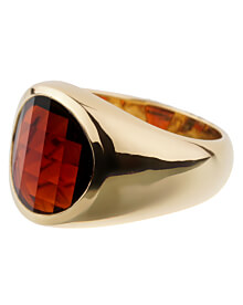 Pomellato Garnet Yellow Gold Cocktail Ring