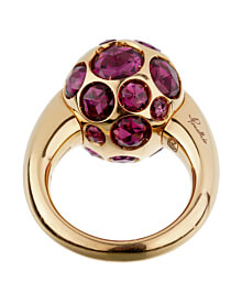 Pomellato 8ct Rhodolite Cocktail Rose Gold Ring