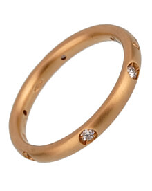 Pomellato Diamond Rose Gold Band Ring Sz 6 3/4