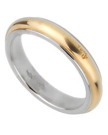 Pomellato 18 Karat White Yellow Band Ring