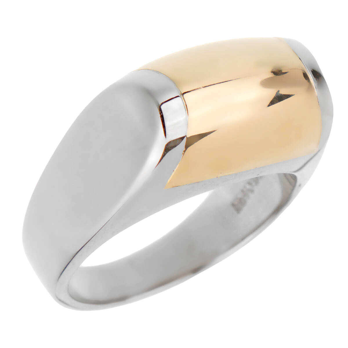 Bulgari Two Tone Gold Cocktail Ring