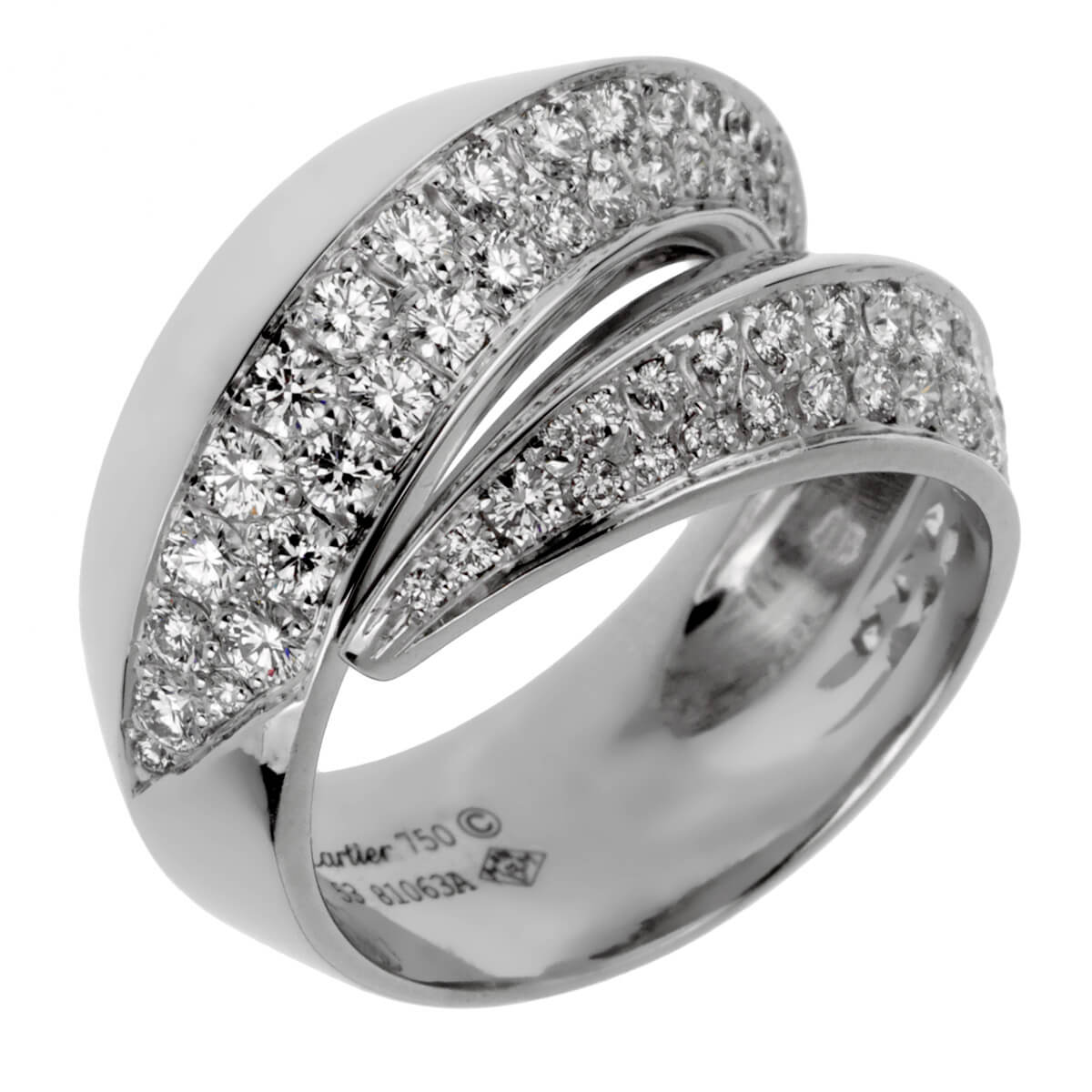 Cartier Panthere White Gold Diamond Cocktail Ring