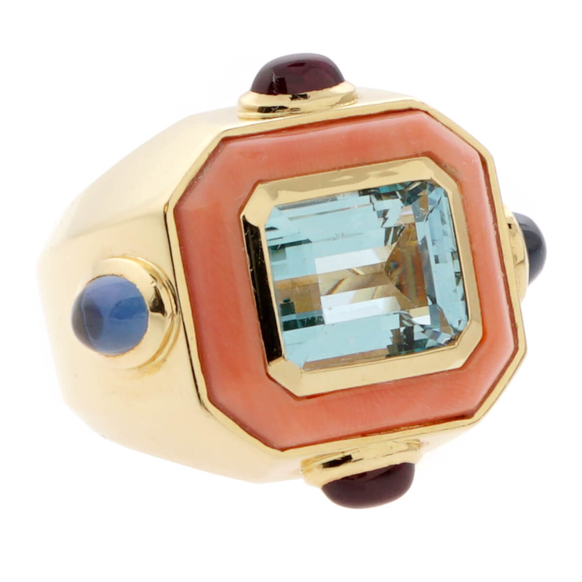 Chanel Coral Topaz Cocktail Ring