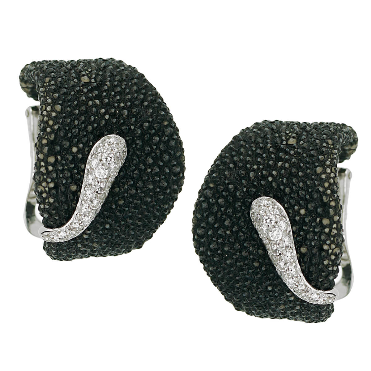 De Grisogono Stingray Diamond White Gold Earrings