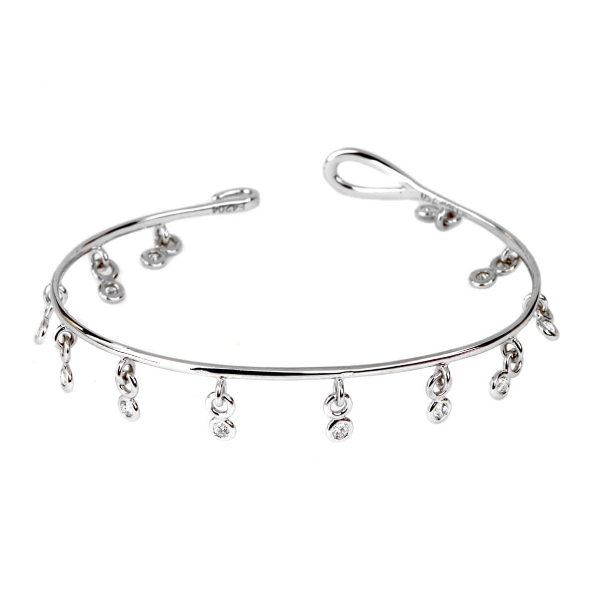 Dior Dangling Diamond Bangle Bracelet