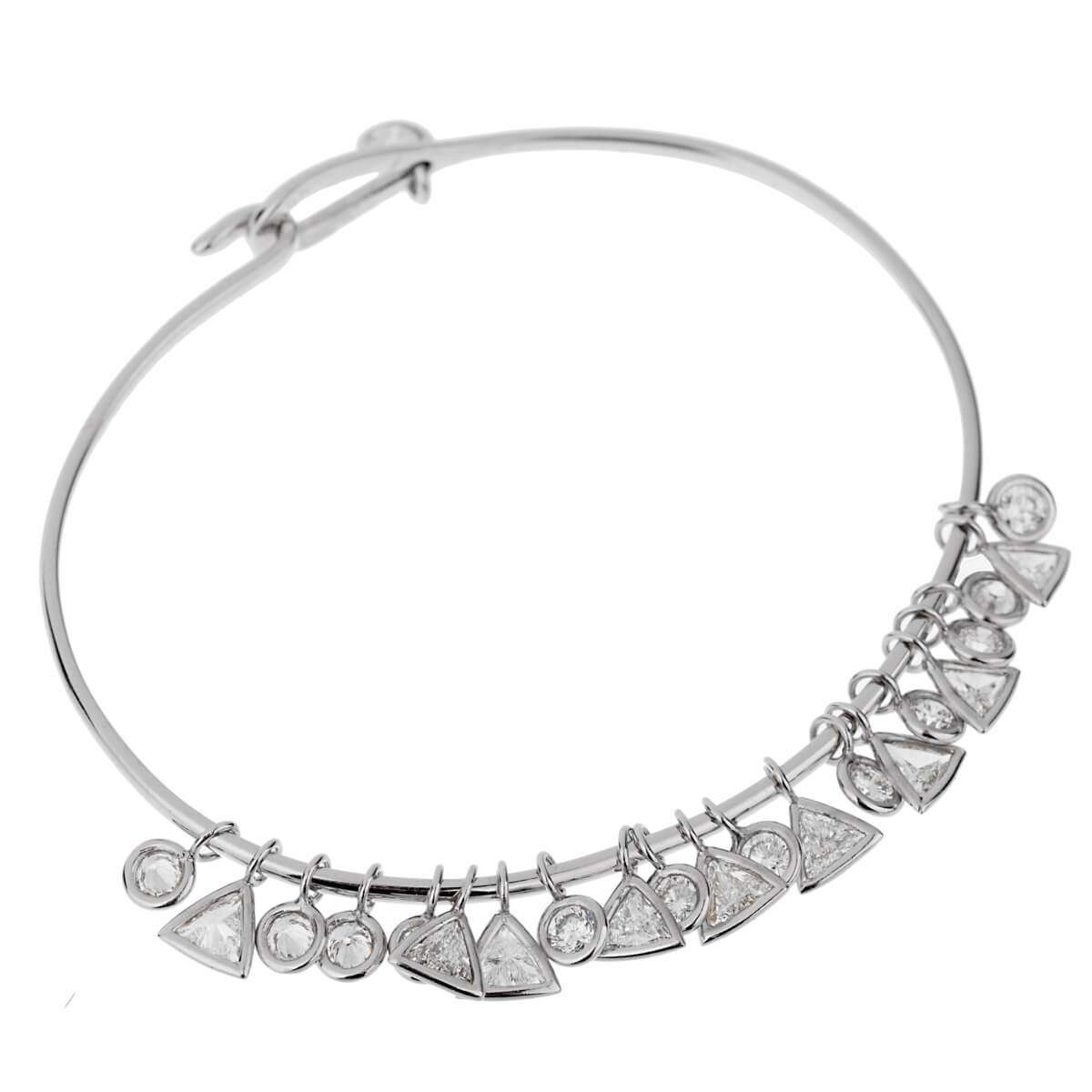 Christian Dior Dangling Diamond White Gold Bracelet