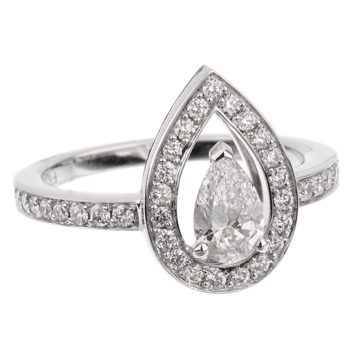 Fred of Paris Lovelight Pear Shaped .67ct Diamond Engagement Ring