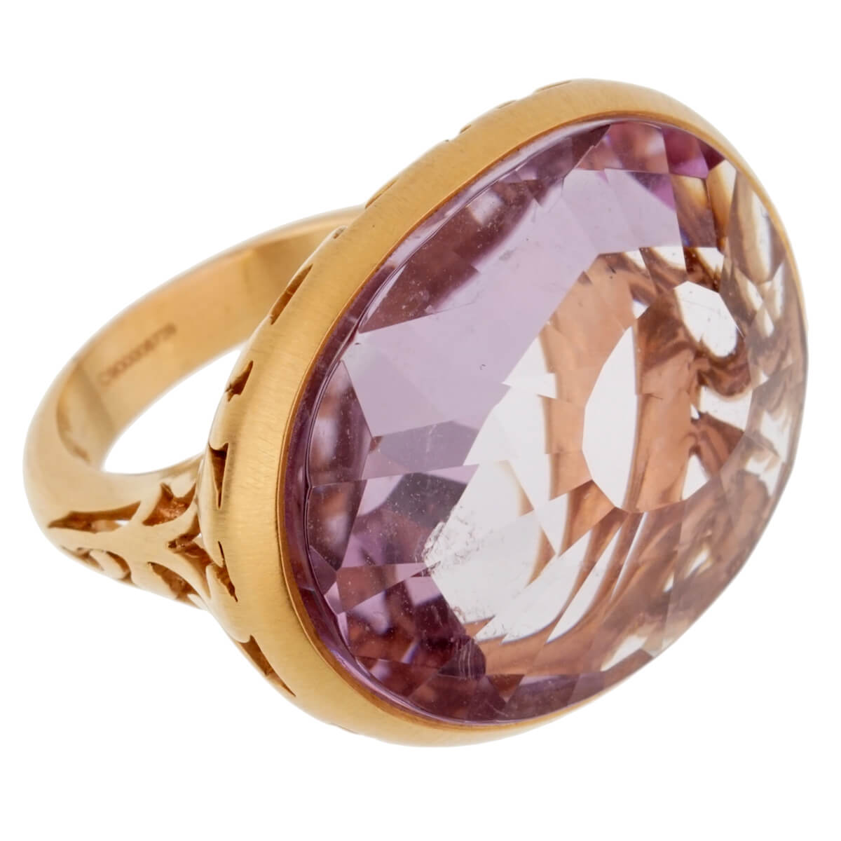 Pomellato 10ct Amethyst Cocktail Rose Gold Ring Sz 5 1/4